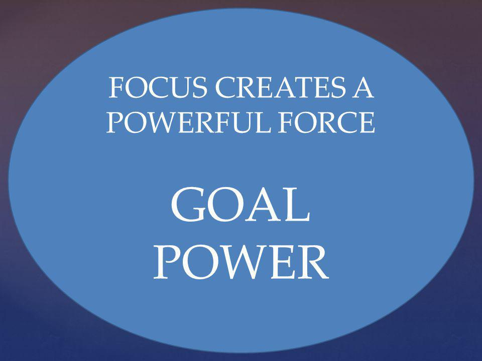 FOCUS CREATES A POWERFUL FORCE GOAL POWER