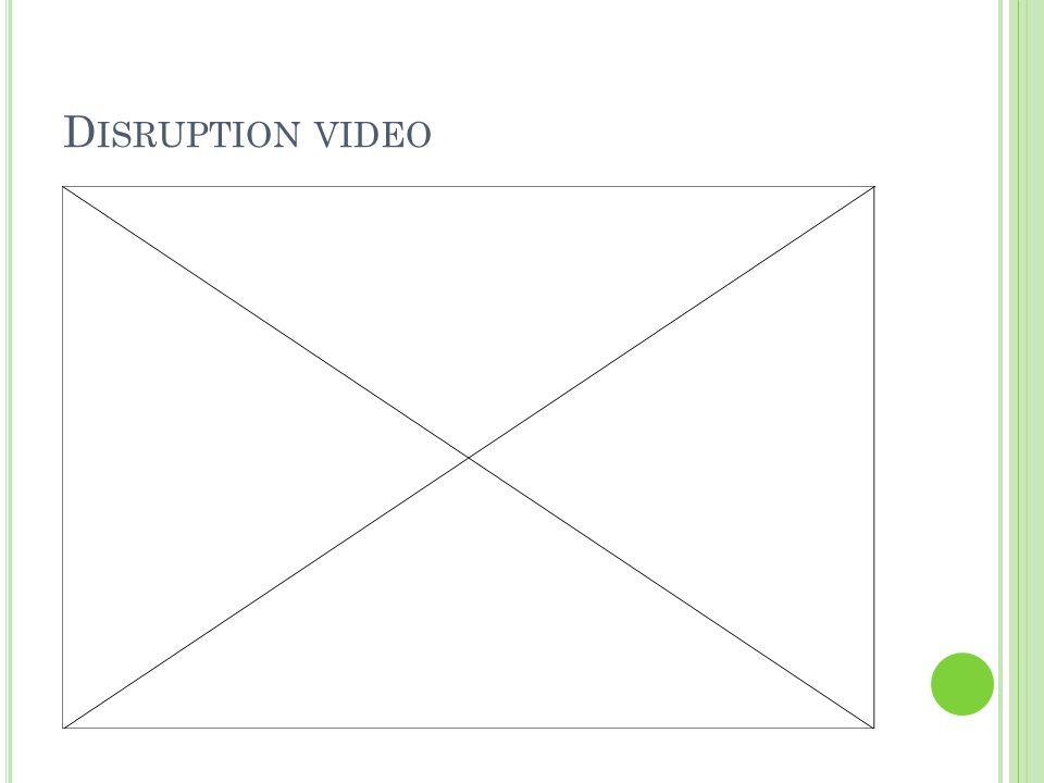 D ISRUPTION VIDEO