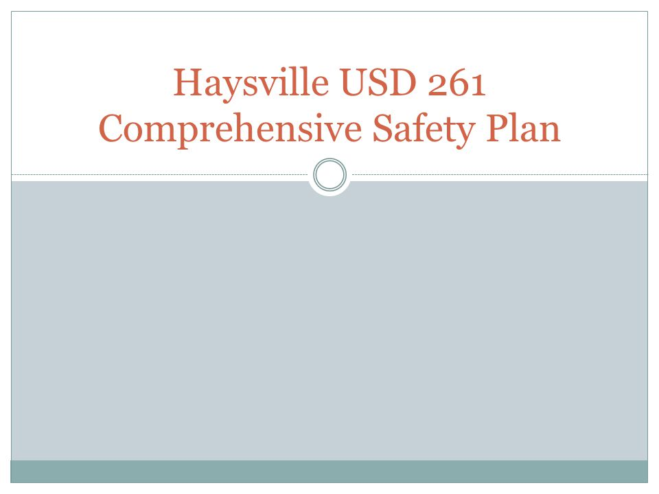 Haysville USD 261 Comprehensive Safety Plan