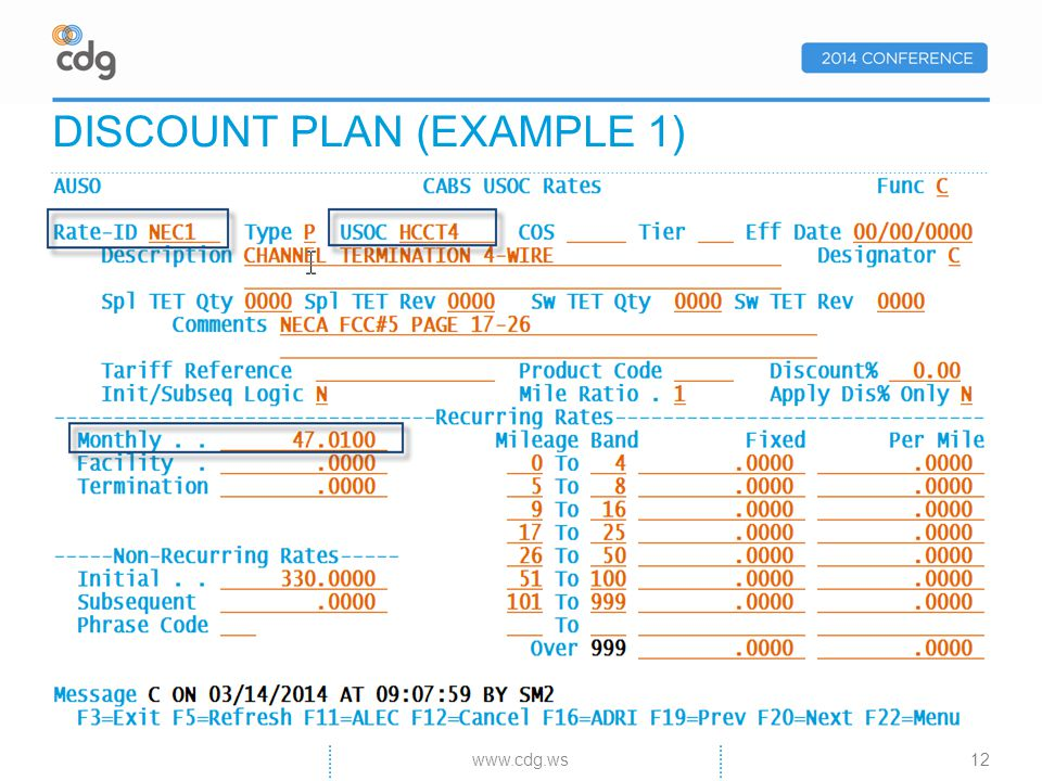 DISCOUNT PLAN (EXAMPLE 1) 12www.cdg.ws