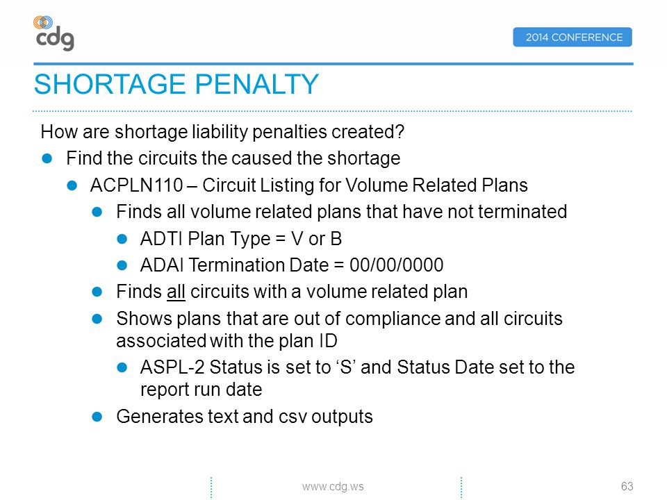How are shortage liability penalties created.