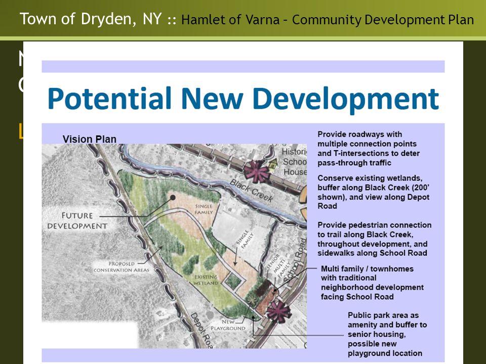 Town of Dryden, NY :: Hamlet of Varna – Community Development Plan Neighborhood Master Plan for the Guilderland Center Hamlet Land Use - Opportunities