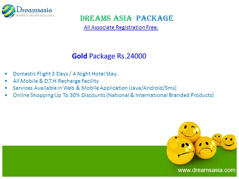 Gold Package Rs.24000 Domestic Flight 3 Days / 4 Night Hotel Stay.