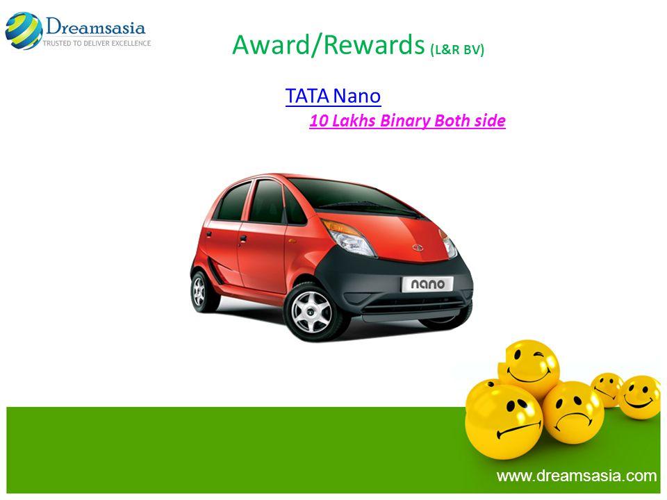 www.dreamsasia.com Award/Rewards (L&R BV) TATA Nano 10 Lakhs Binary Both side