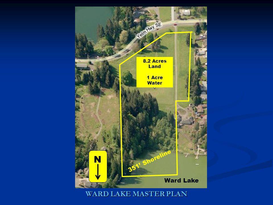 Ward Lake 351 Shoreline 8.2 Acres Land 1 Acre Water N