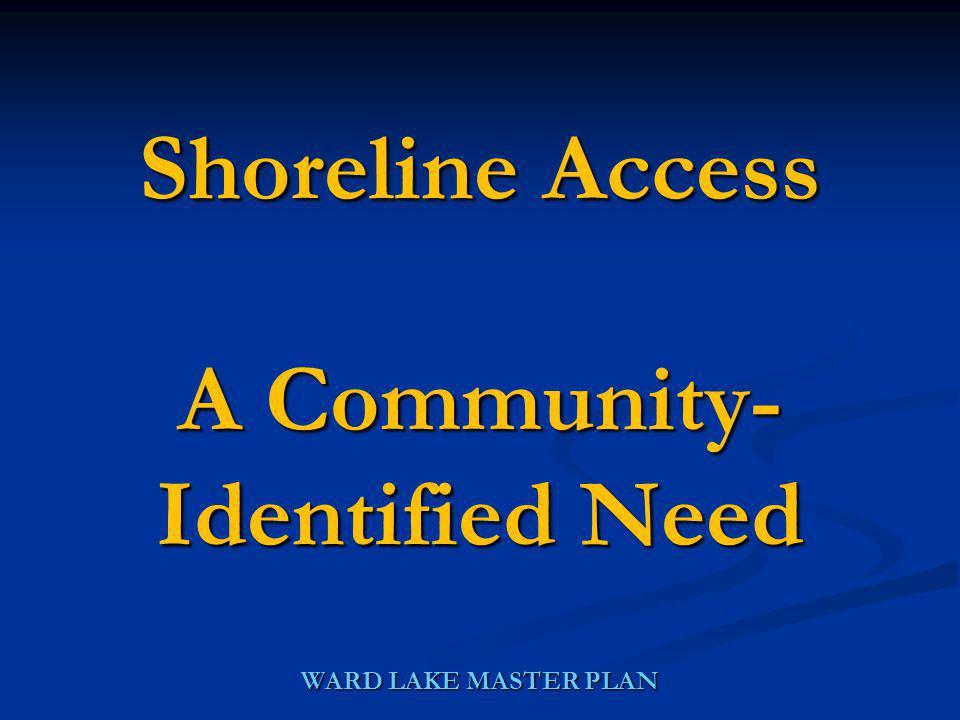 WARD LAKE MASTER PLAN Shoreline Access A Community- Identified Need