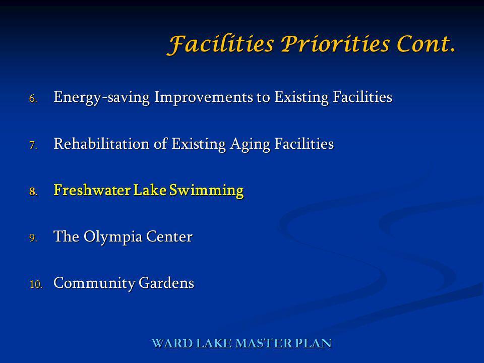 WARD LAKE MASTER PLAN 6. Energy-saving Improvements to Existing Facilities 7.