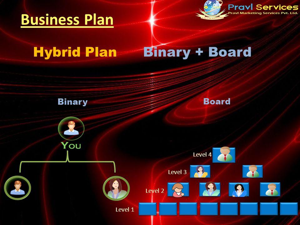 Business Plan Binary + BoardHybrid Plan Binary Board Level 4 Level 3 Level 2 Level 1
