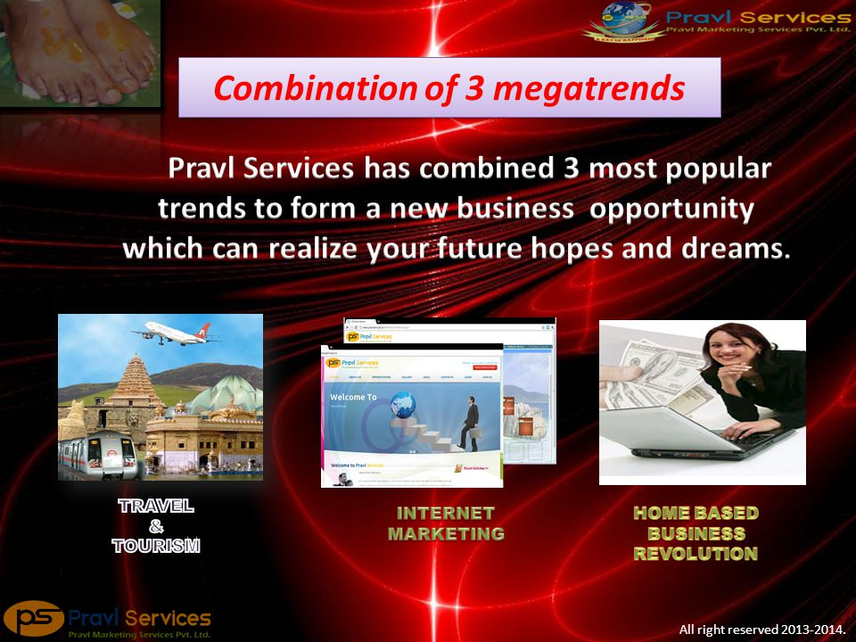 All right reserved 2013-2014. Combination of 3 megatrends