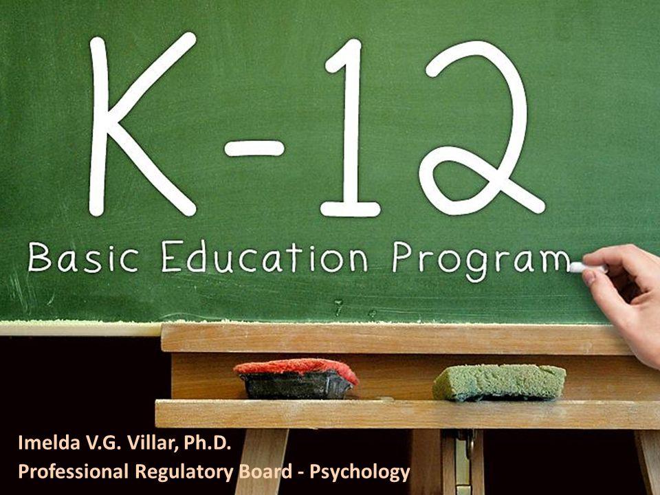 Career Planning for K-12 Imelda V.G. Villar, Ph.D. Professional Regulatory Board - Psychology
