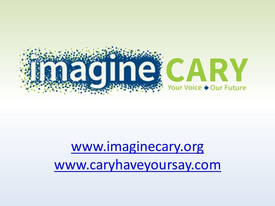 www.imaginecary.org www.caryhaveyoursay.com