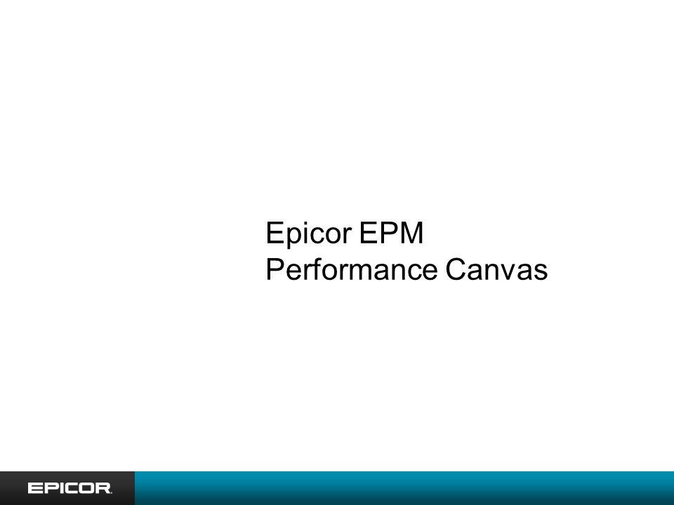Epicor EPM Performance Canvas