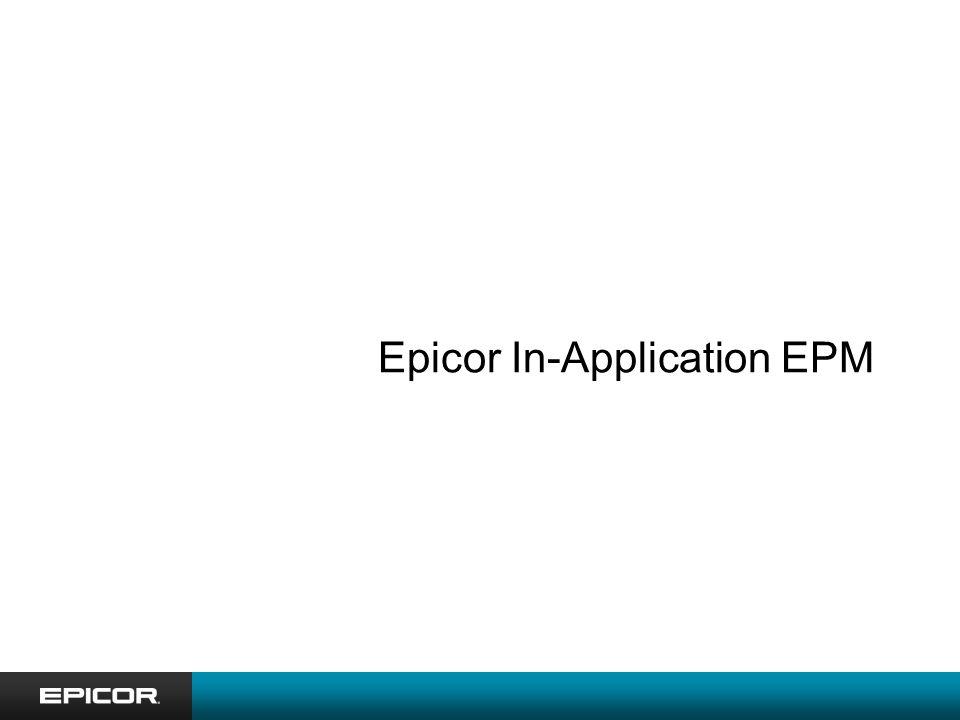 Epicor In-Application EPM