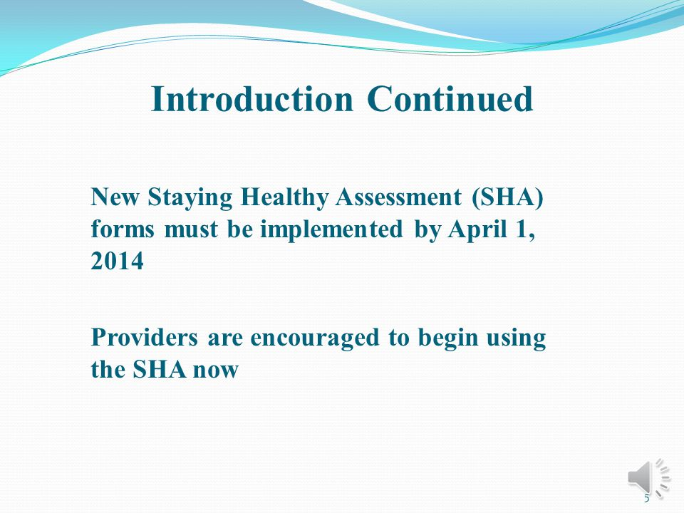SHA Provider Review Screening, Brief Intervention and Referral for Treatment (SBIRT): Providers offering SBIRT are required to take special training.