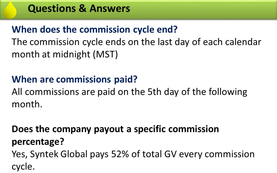 Questions & Answers What happens to unpaid volume from my team commissions.