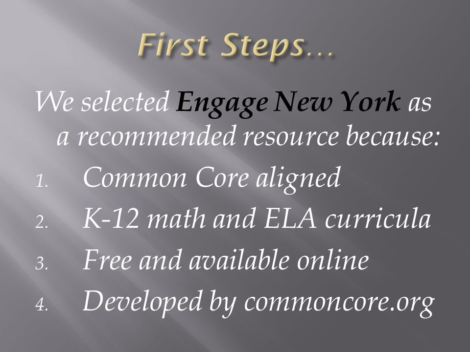 We selected Engage New York as a recommended resource because: 1.