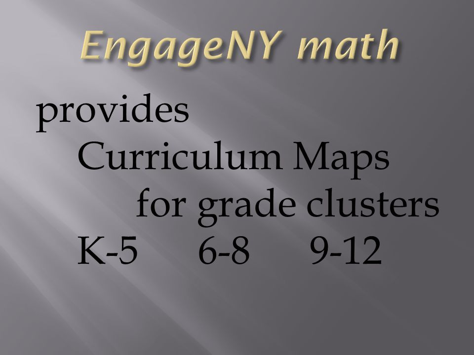 provides Curriculum Maps for grade clusters K