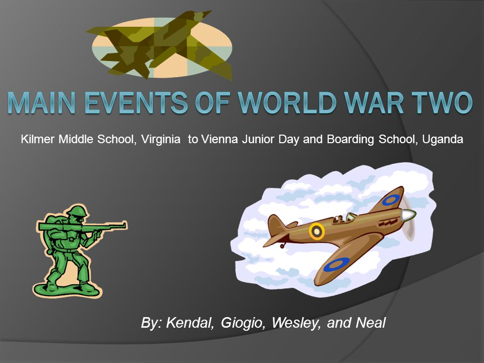 By: Kendal, Giogio, Wesley, and Neal Kilmer Middle School, Virginia to Vienna Junior Day and Boarding School, Uganda