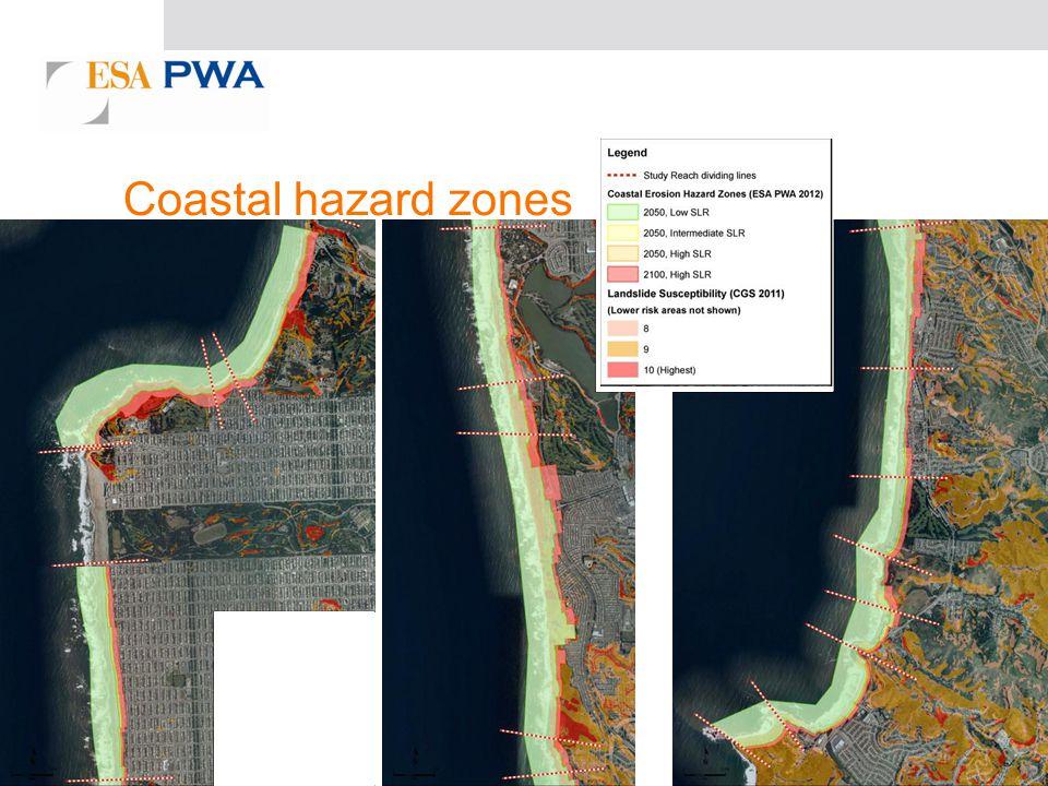 Coastal hazard zones