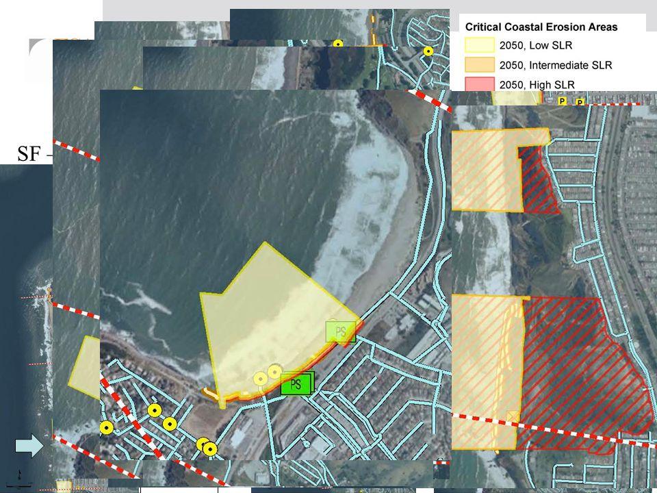 The 10 Critical Erosion Areas SF – 3 (7,100) + DC – 3 (7,700) + Pacifica – 4 (12,900) = 5.25 miles