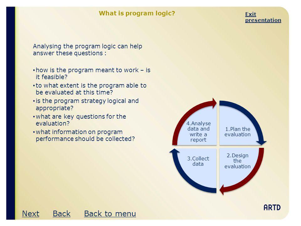 Exit presentation A program logic framework OutcomesFactors Level 7.