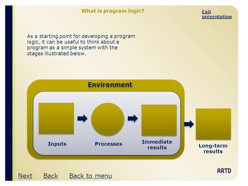 Exit presentation A program logic framework Outcomes Attributes of success Level 5.