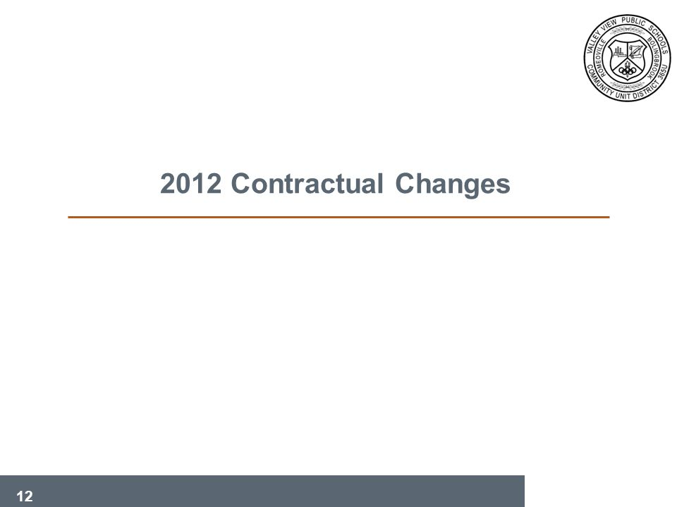 12 2012 Contractual Changes