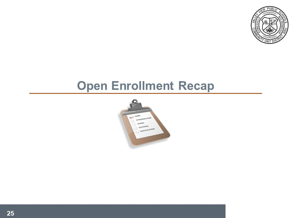 25 Open Enrollment Recap