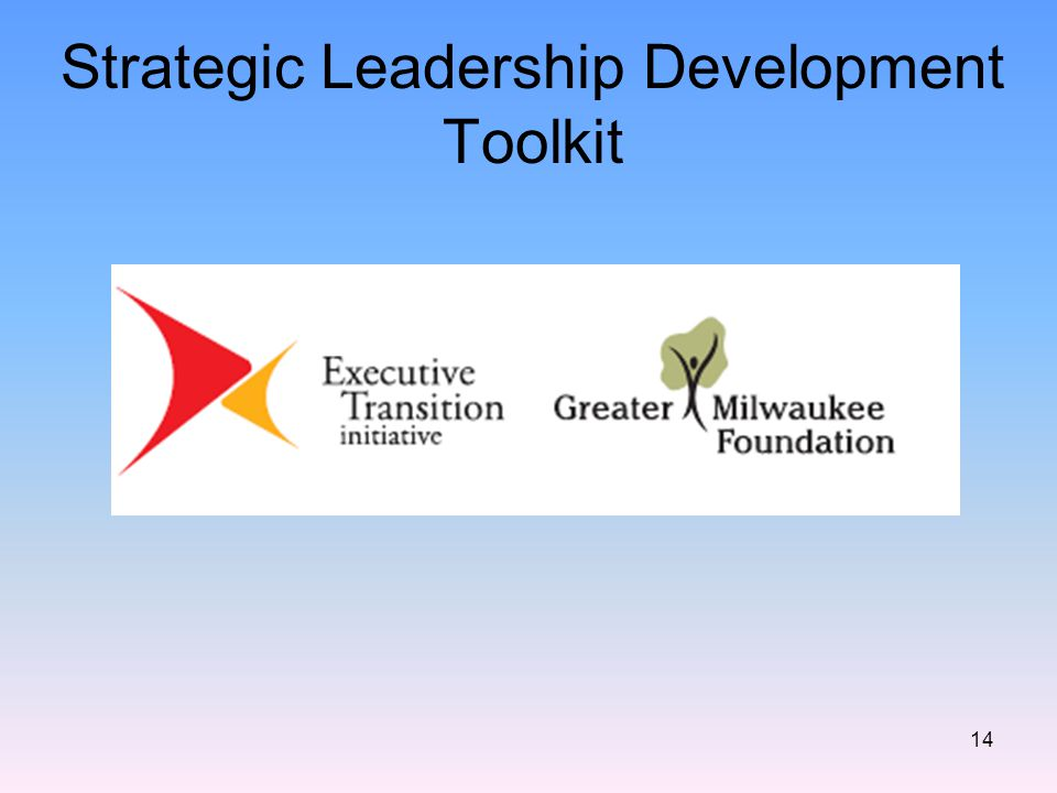 Strategic Leadership Development Toolkit 14