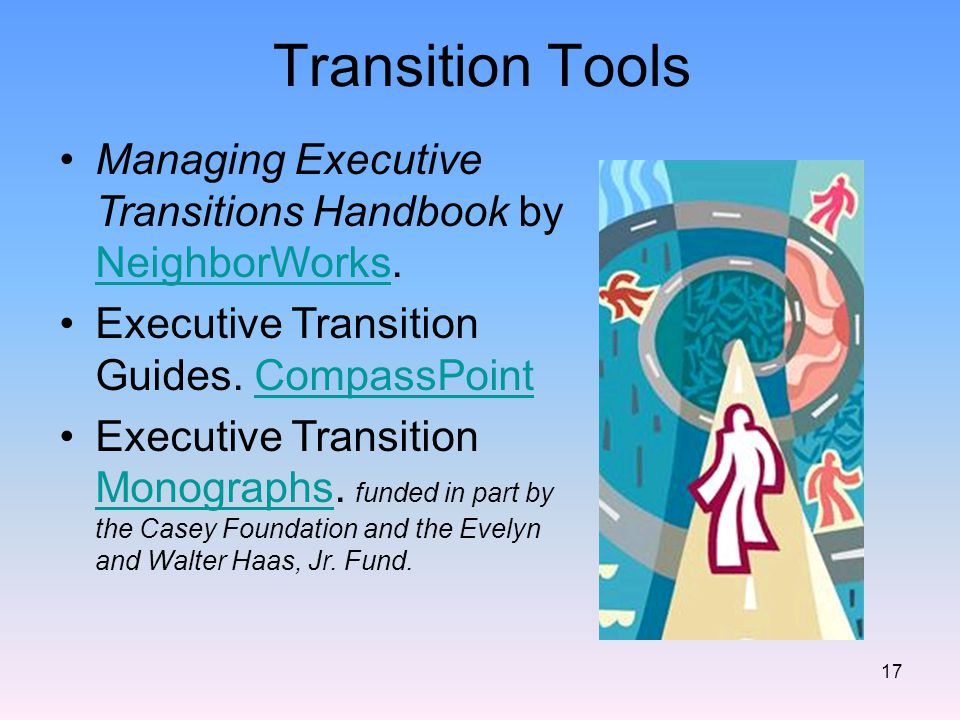17 Transition Tools Managing Executive Transitions Handbook by NeighborWorks.