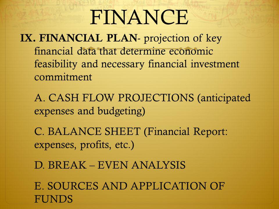 FINANCE IX.