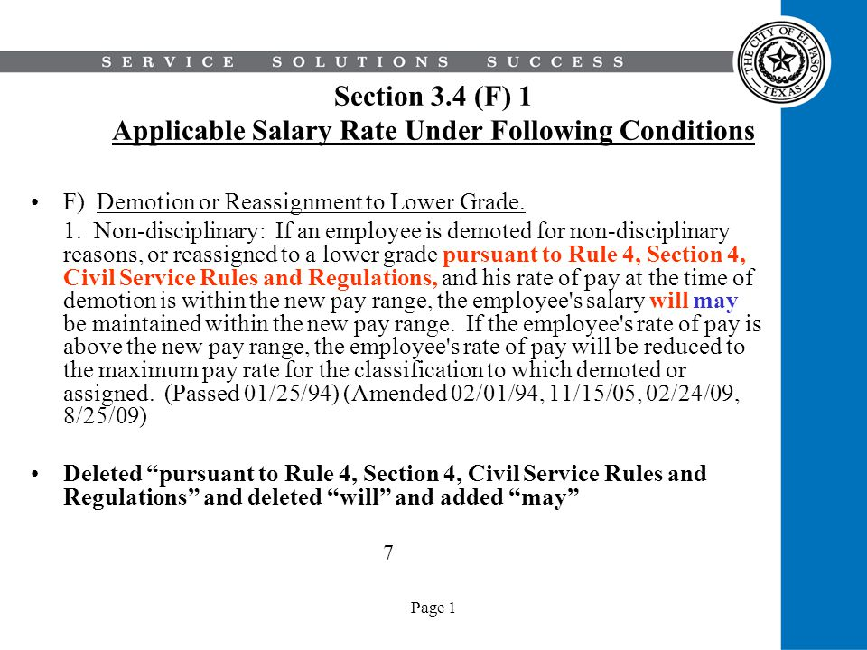 Page 1 Section 5 Conditions of Employment 3.