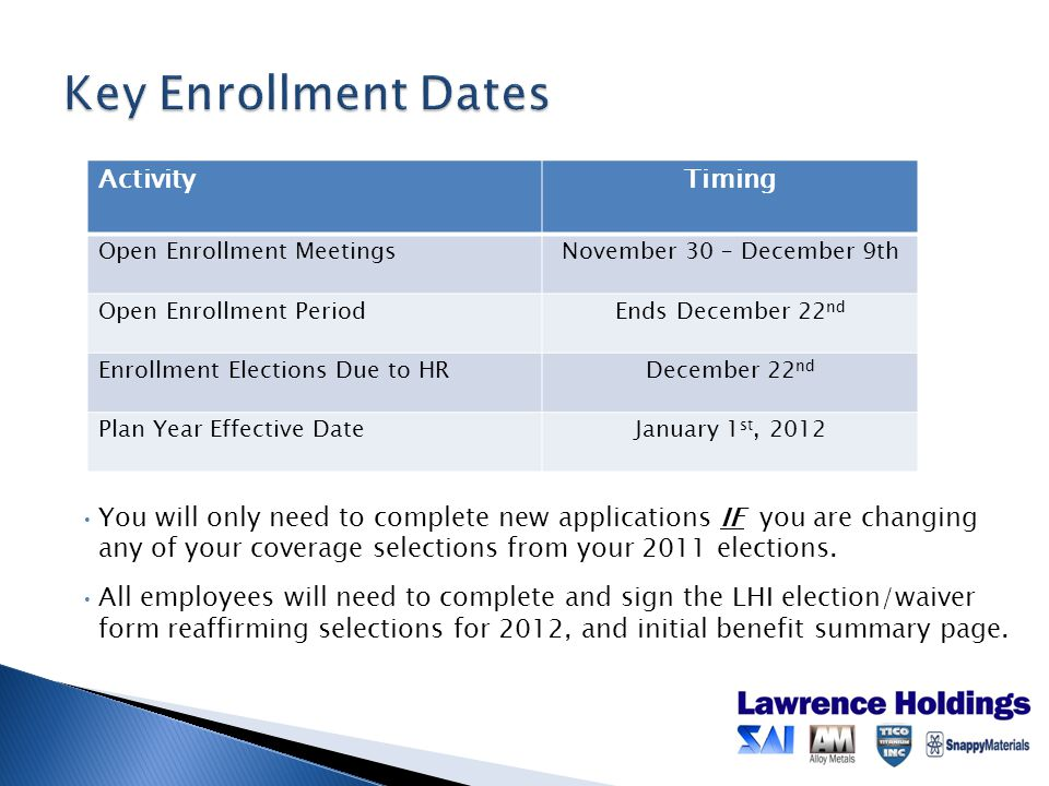 You will only need to complete new applications IF you are changing any of your coverage selections from your 2011 elections.