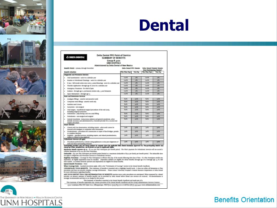 Benefits Orientation Dental
