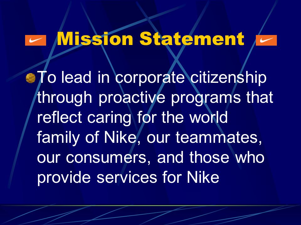 What Nike Does Create authentic athletic footwear, apparel, equipment and accessories for sports and fitness enthusiasts Through subsidiaries, design and sell a line of mens and womens dress and casual shoes and accessories