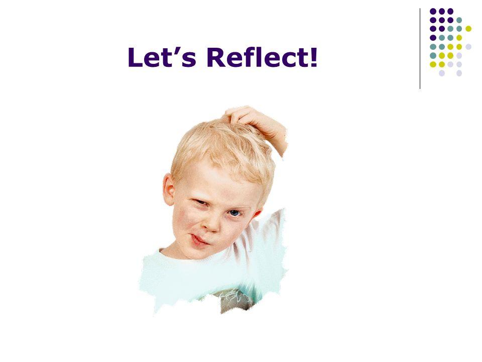 Lets Reflect!