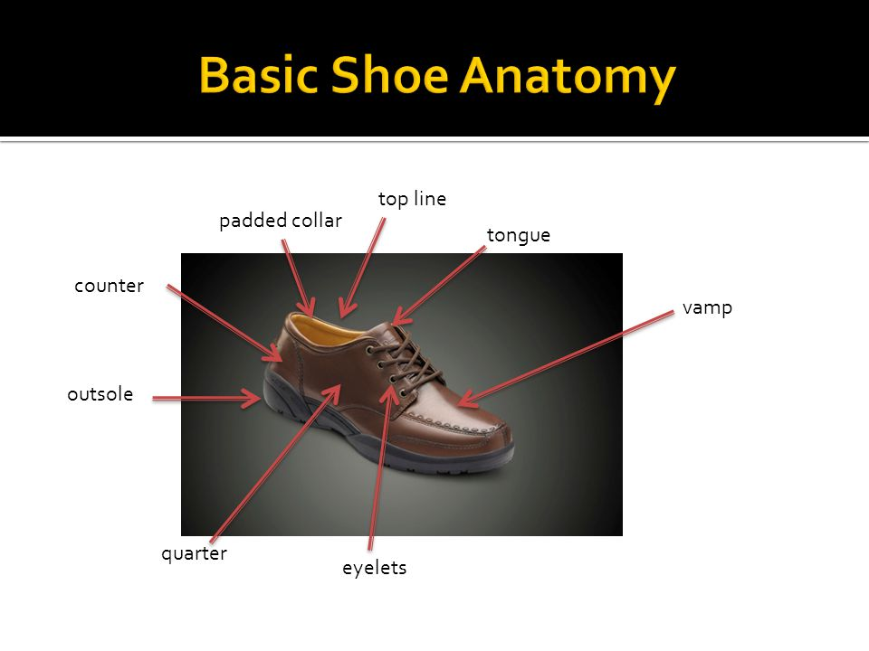 Saddles are the materials that go over the instep.