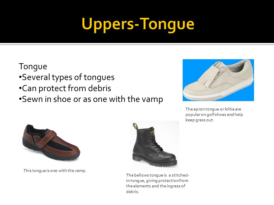 A type of shoe where the tongue is stitched at the throat of the vamp.