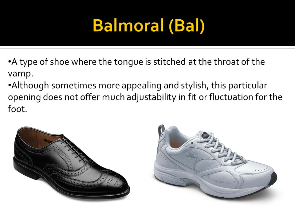 The quarters overlap the vamp Creates a wider opening shoe Makes donning and doffing easier Often prescribed for patients with limited dorsiflexion or flexibility and/or internal braces