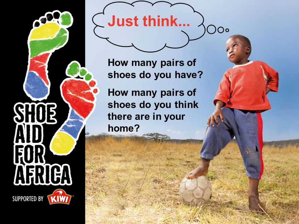 How many pairs of shoes do you have? How many pairs of shoes do you think there are in your home? Just think...