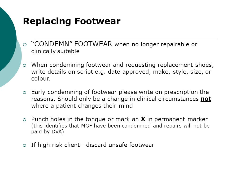 How Many? - Shoes 2 prs Day/Dress shoes at any one time 1 pr Recreational shoes - where MGF need to be modified to comply with a sporting club regulat