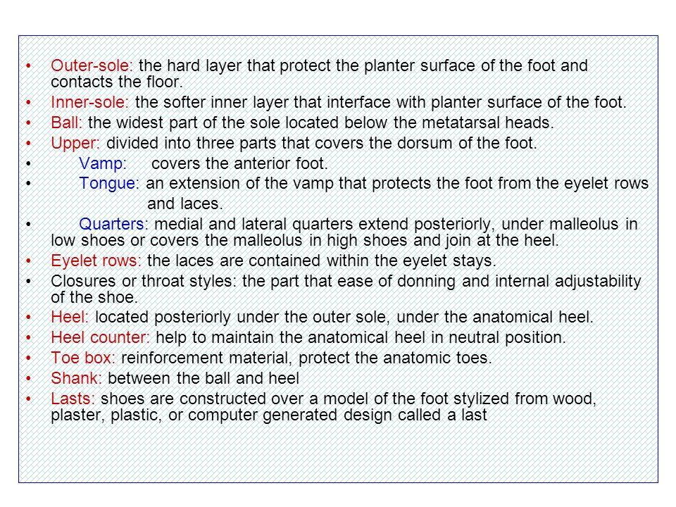 Foot orthosis (FO) SoftSemirigidRigid