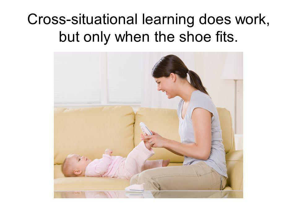 Cross-situational learning does work, but only when the shoe fits.