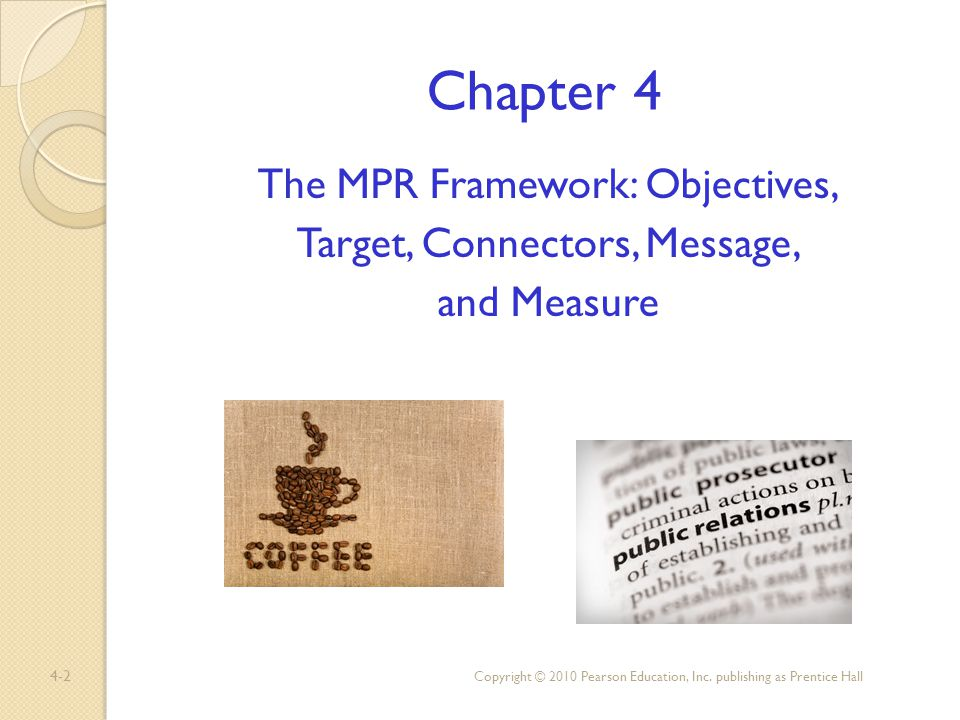 4-3 Chapter Objectives 1.