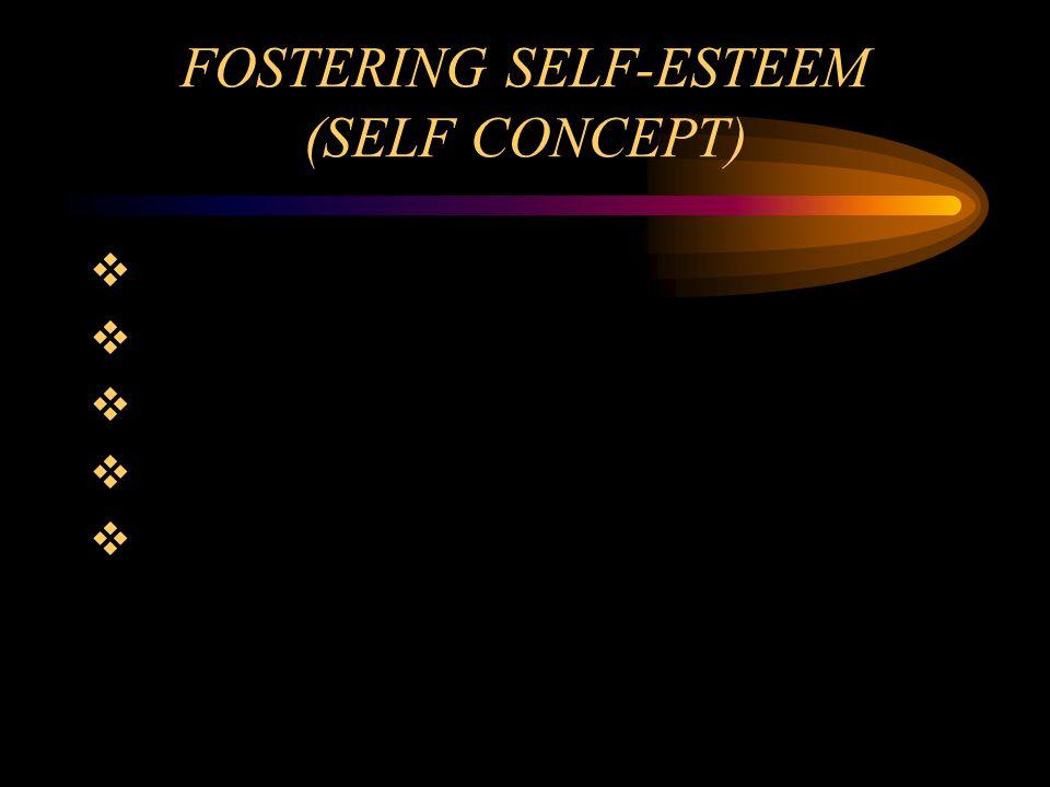 FOSTERING SELF-ESTEEM (SELF CONCEPT)