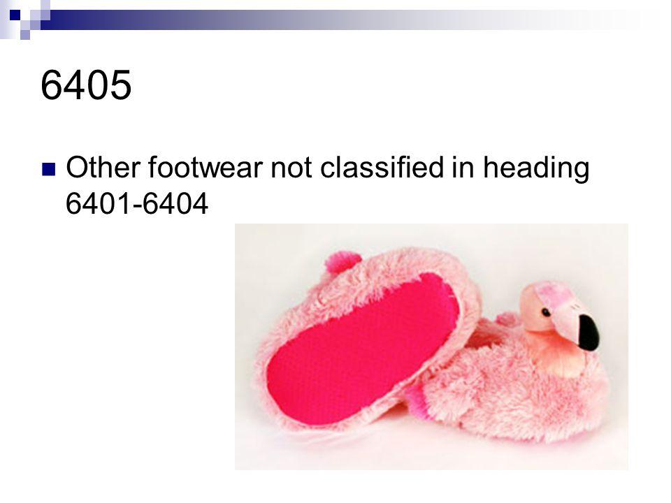 6405 Other footwear not classified in heading 6401-6404