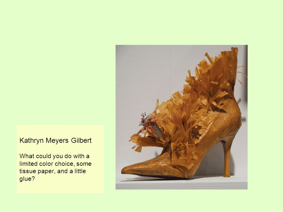 Kathryn Meyers Gilbert What could you do with a limited color choice, some tissue paper, and a little glue