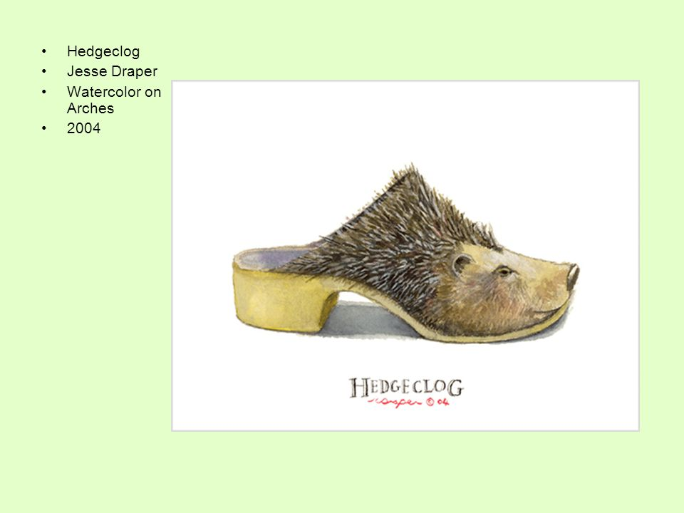 Hedgeclog Jesse Draper Watercolor on Arches 2004