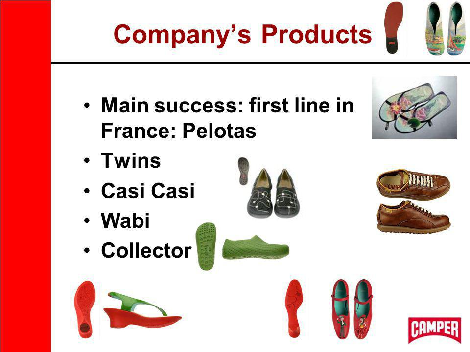 Companys Products Main success: first line in France: Pelotas Twins Casi Wabi Collector