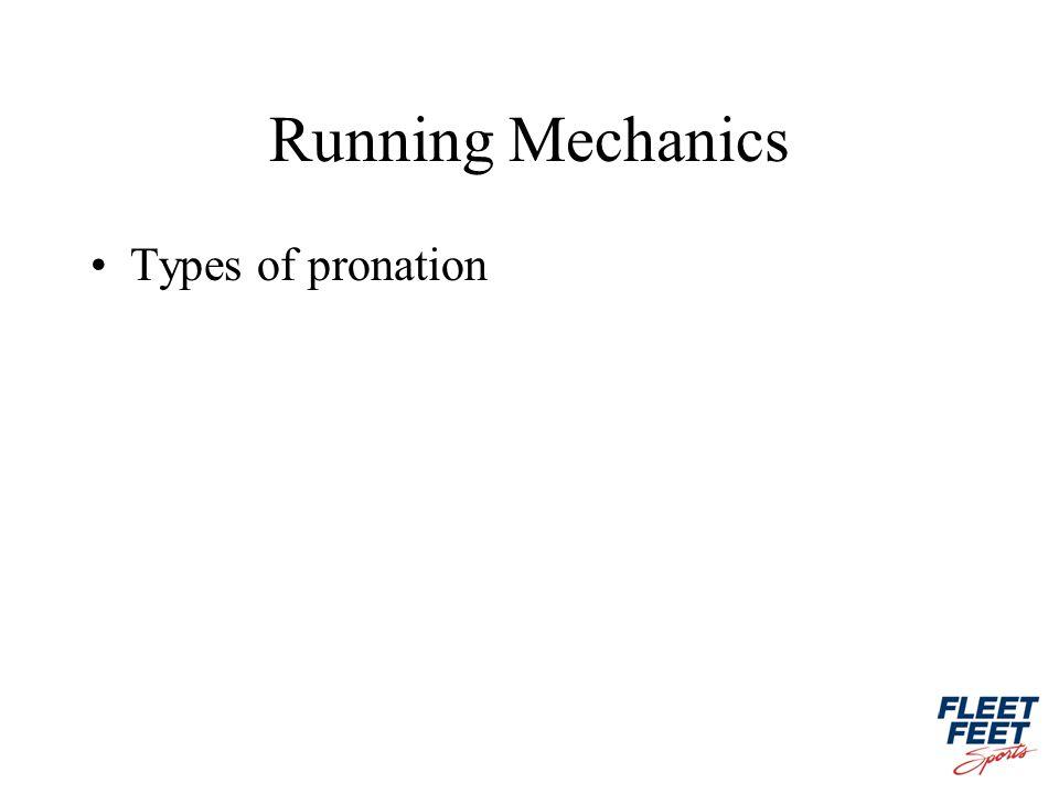 Running Mechanics Types of pronation